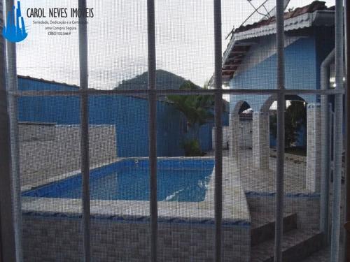 2285 excelente casa isolada com piscina a venda em mongaguá!