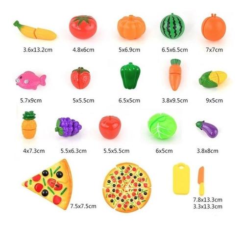 23 peças brinquedo de cortar cozinha pizza verduras frutas