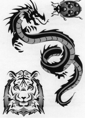 23 tatuagens temporárias - frete grátis tatuagem fake rf432