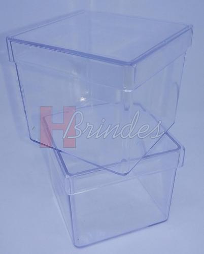 230 caixinhas acrílico p/ personalizar lembrancinha tam. 5x5