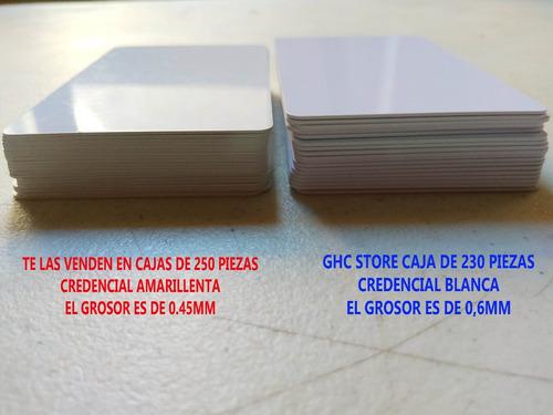 230 credenciales de pvc alto brillo inyeccion tinta