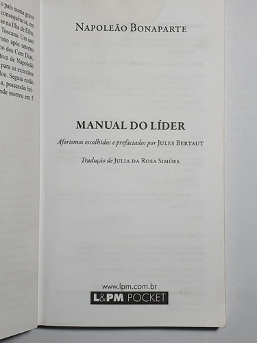 236 - napoleão bonaparte (manual do lider) - 2009