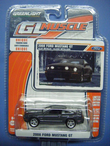 237 - greenlight 2008 ford mustang gt.