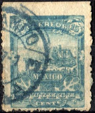 2370 mulita celeste 2° e scott#263 dilige 15c usado 1896-97