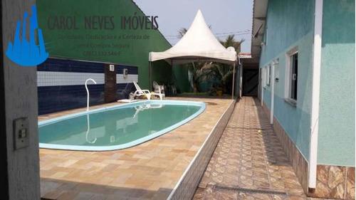 2373- casa lote inteiro com piscina e área de lazer! finan b