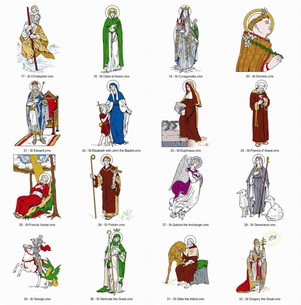 Adesivos De Orixas ~ 238 Imagens Religiosas Em Vetor (p adesivos, Camisas, Etc R$ 30,00 em Mercado Livre