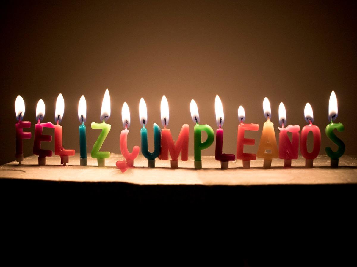 Feliz cumpleanos velas