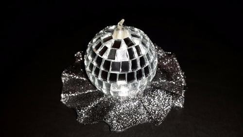 24 bolas de boliche espejadas para armar souvenirs nro4