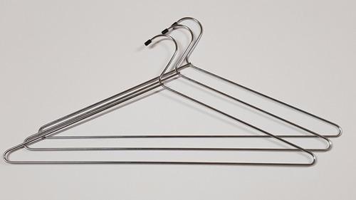 24 cabides arame metal cromado p roupas armário arara closet