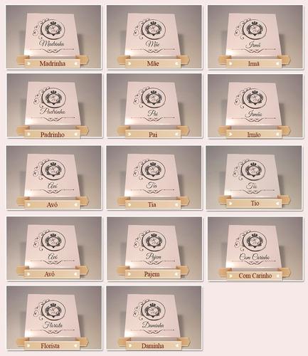 24 caixas lembrança padrinho, madrinha, pai, mãe, avó e avô