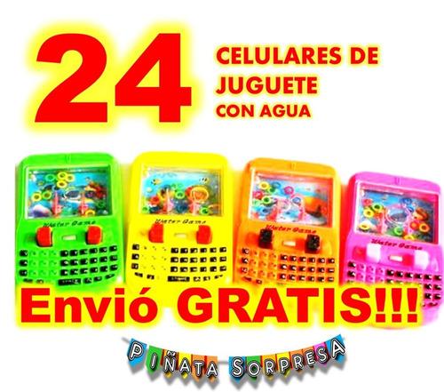 24 celular economico juguete piñata cumple bolo regalo fiest