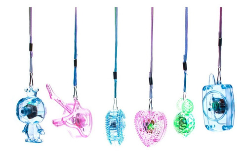 24 collares luz led luminoso guitarra fiestas neon n69