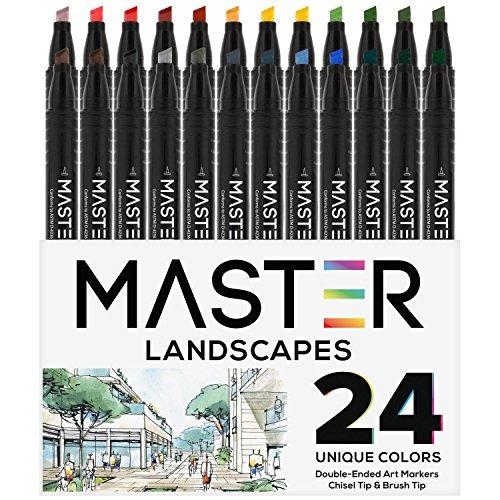 24 color master marcadores set de arte rotulador