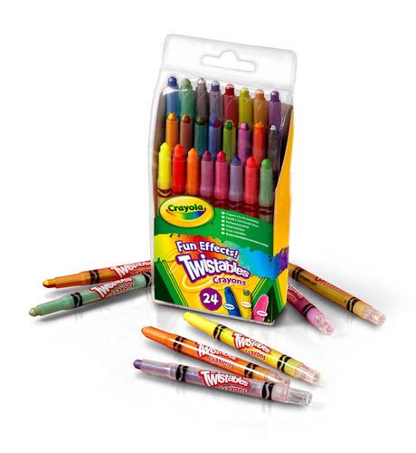 24 crayones twistables efectos divertidos crayola giro didac