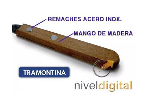 24 cubiertos tramontina mango madera original sin mentiras