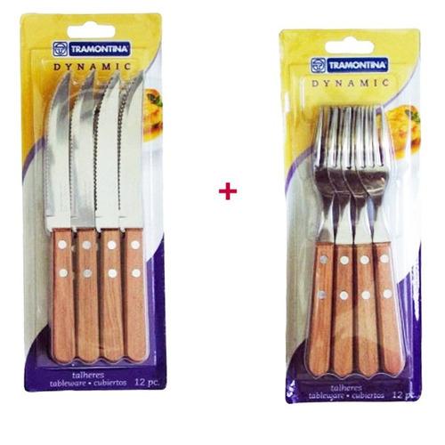 24 cubiertos tramontina originales cuchillo tenedor dynamic