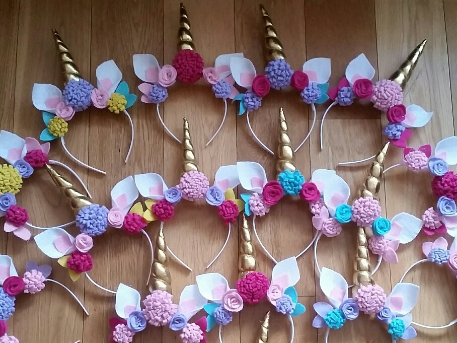 24 diademas unicornio 1 en mercado libre - Material para hacer diademas ...
