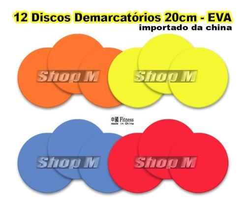 24 discos 20cm eva circuito de treino agilidade demarcatório