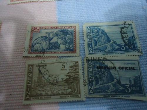 24  estampillas de coleccion antiguas de argentina