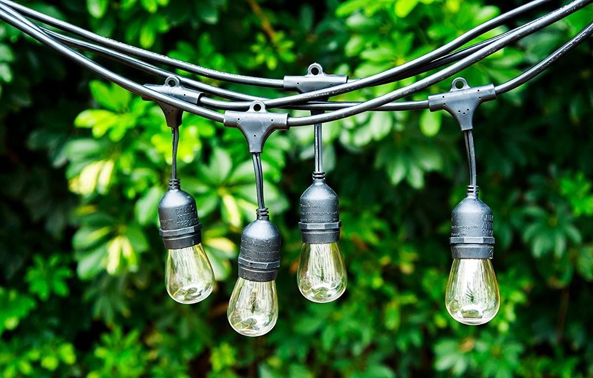 24 feet outdoor string lights with e26 sockets cord sjtw 16 cargando zoom aloadofball Gallery