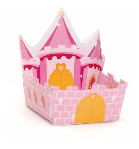 24 forminhas castelo rosa