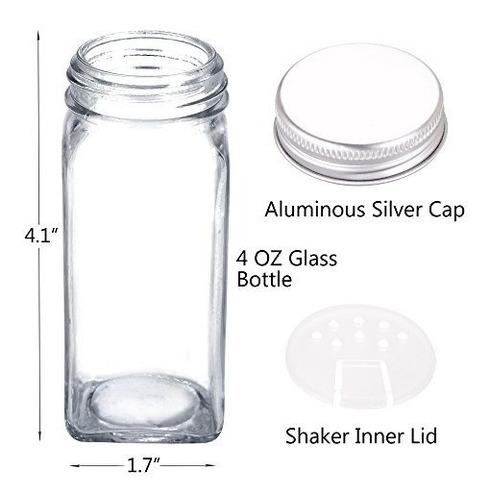 24 frascos de vidrio con especias y 360 frascos de especias