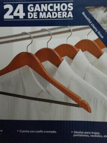 24 ganchos de madera antidealizante pantalon recamara closet