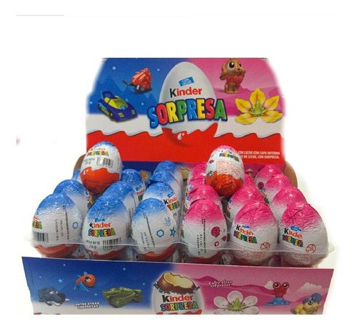 24 huevos kinder sorpresa 20g  hoy oferta en la golosinería-