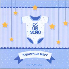 24 Invitacion Baby Shower Niño Frente Y Vuelta Personalizada