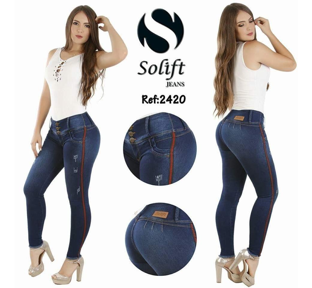 baratas para descuento c7566 dbaf0 24 Jeans Colombianos 100% Originales Marca Solift Tiro Alto
