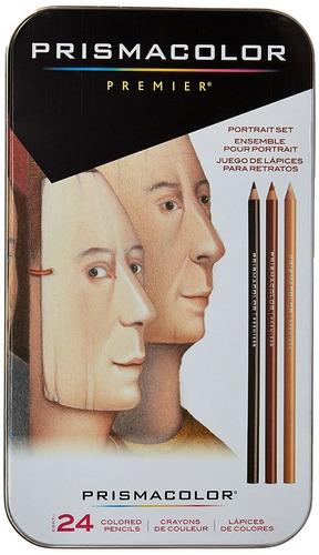 24 lápices de colores retratos prismacolor premier en stock