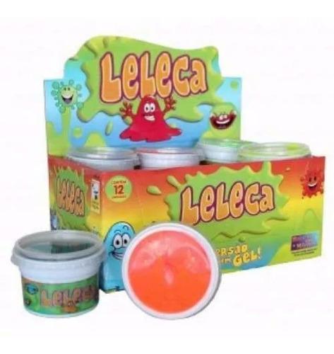 24 lelecas diversão amoeba lembrancinha slime 2 cx c/ 12 un