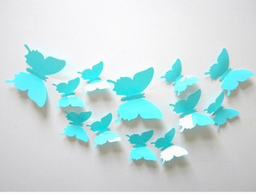 24 mariposas 3d para decorar paredes en - Mariposas decoracion pared ...