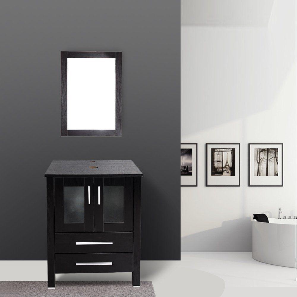 24 Moderno Tocador Madera Soporte Pedestal Mueble De Baño ...