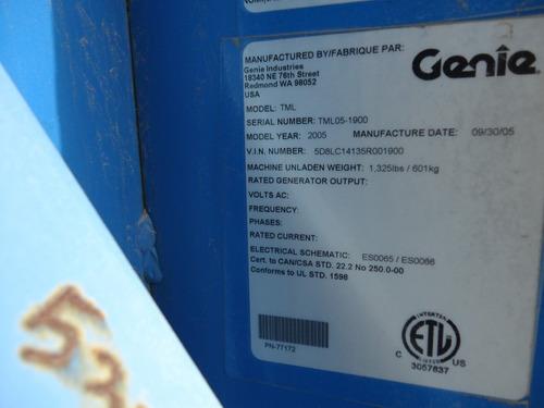 24) oferta torre de luz genie c/4 lamparas 6kw 220/127v 2005