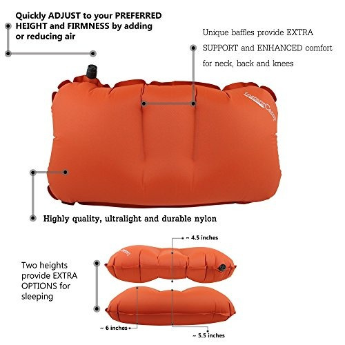 2,4 onzas ultralight inflable backpacking, camping, travel