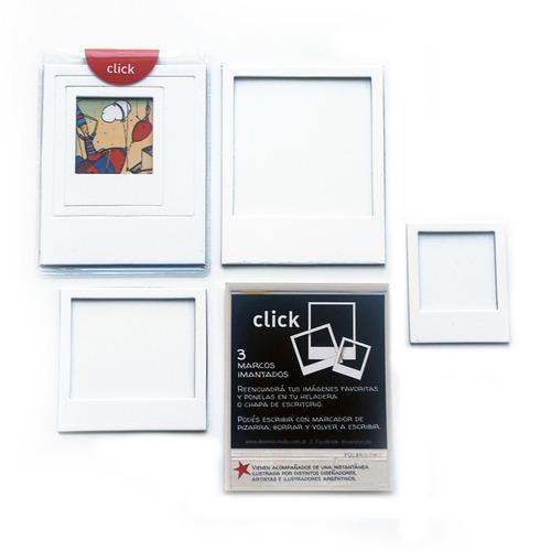 24 packs de clicks / 3 marcos de fotos imantados