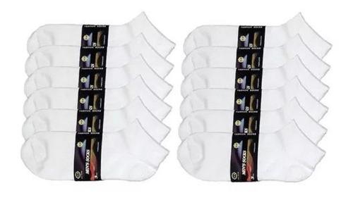 24 pares de meias soquete feminina cano curto algodão atacad