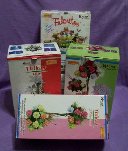 24 pares moldes para hacer flores c/ goma eva - frisadores