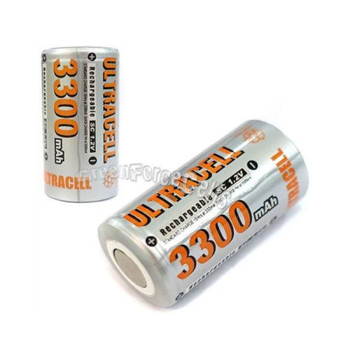 24 piezas subc sub c 3300mah nimh recargable batería plana t