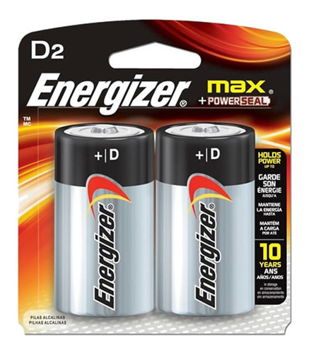24 pilas d grande energizer 1.5v alcalina - caja cerrada