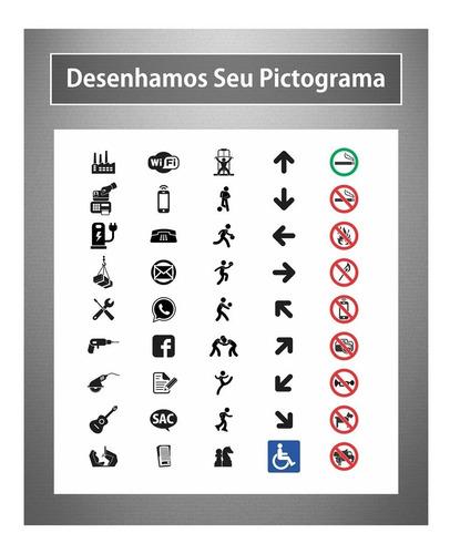 24 placa setor identificação sala departamento personalizada