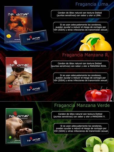 24 preservativos condones te amo. punteados y lubricados