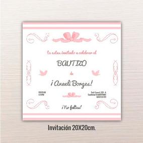 Linda Invitacion Bautizo Invitaciones Invitaciones Y