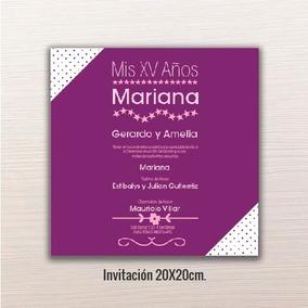Invitacion Xv Para Imprimir Invitaciones Y Tarjetas Por 24