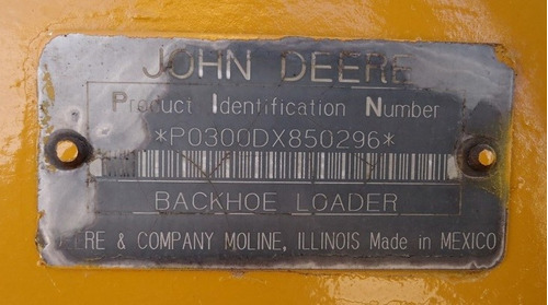 24) retroexcavadora john deere 300d 1997