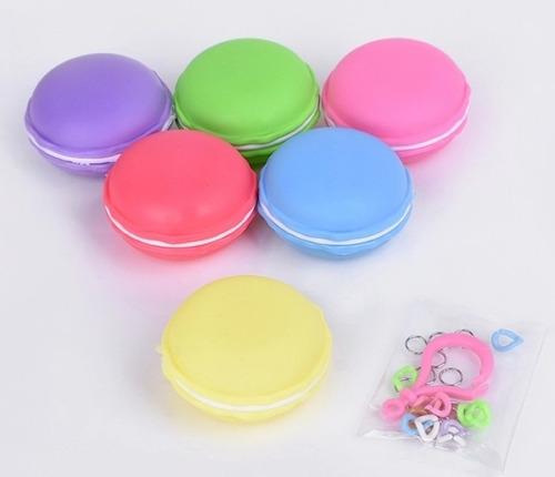 24 slimes macarrones - 6 colores de slimes