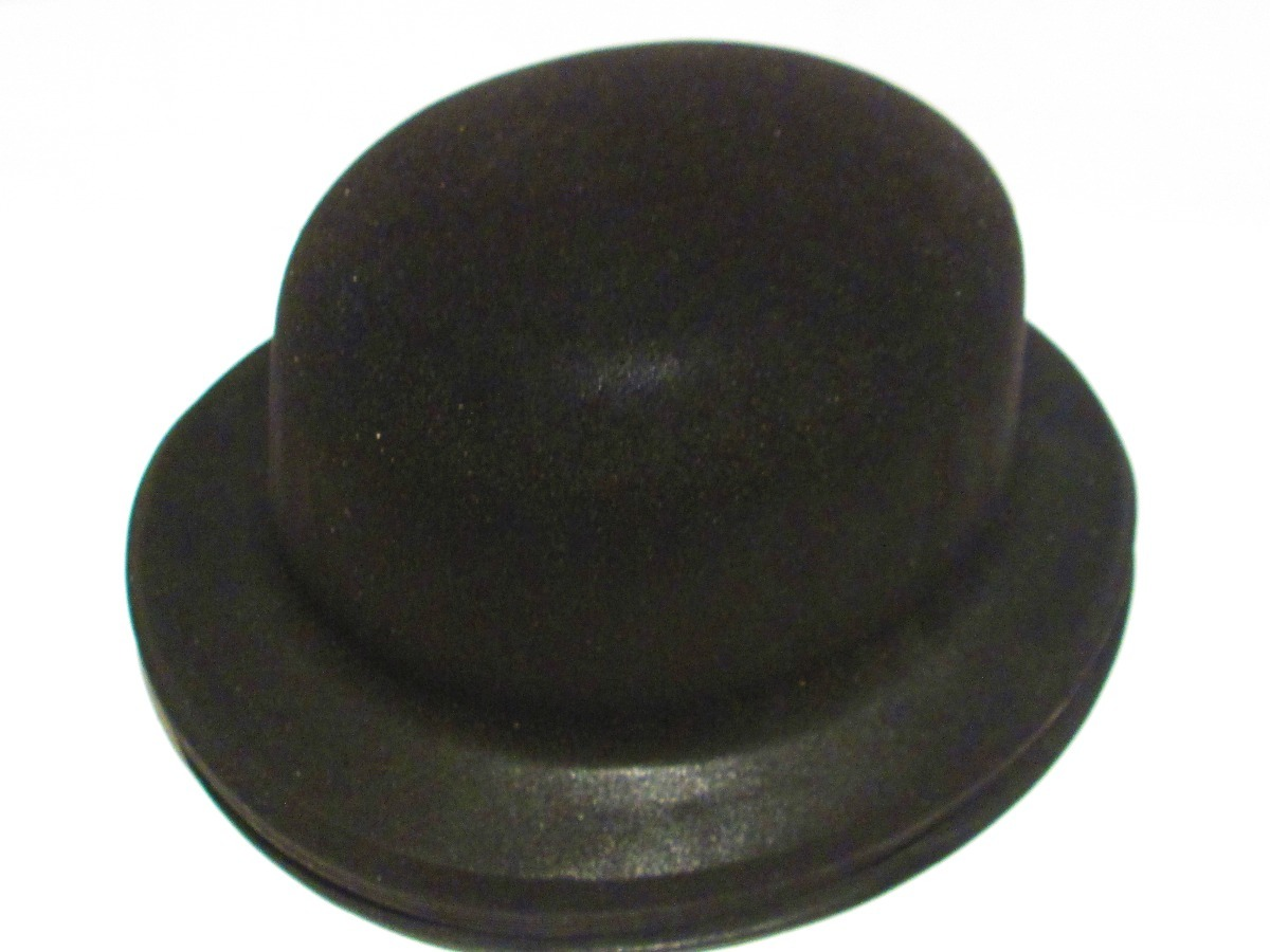24 Sombrero Negro Bombin Fieltro Plastico Fiesta Boda -   599.00 en ... a6c43fe84ab