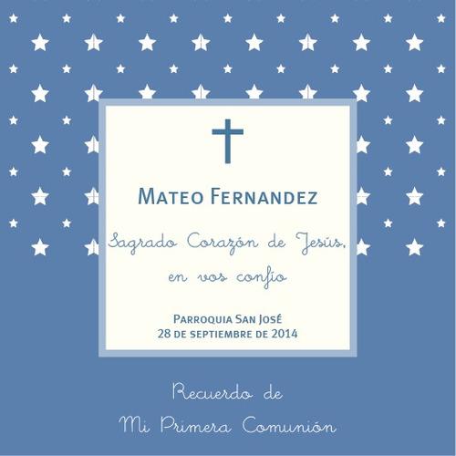 24 tarjetas comunion, bautismo, confirmación, varon