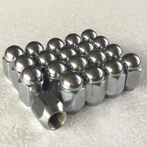 24 tuercas cromadas 12x1.25 - tsuru nissan pickup sentra